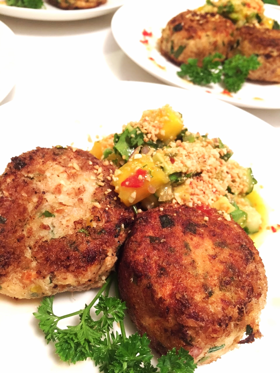 Steffles 39 asian fish or crab cakes foodiefitmum for Chinese fish cake